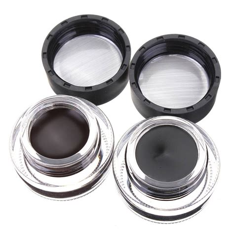 Flower Eyeliner Powder Brown flower eyeliner gel makeup cosmetics tools