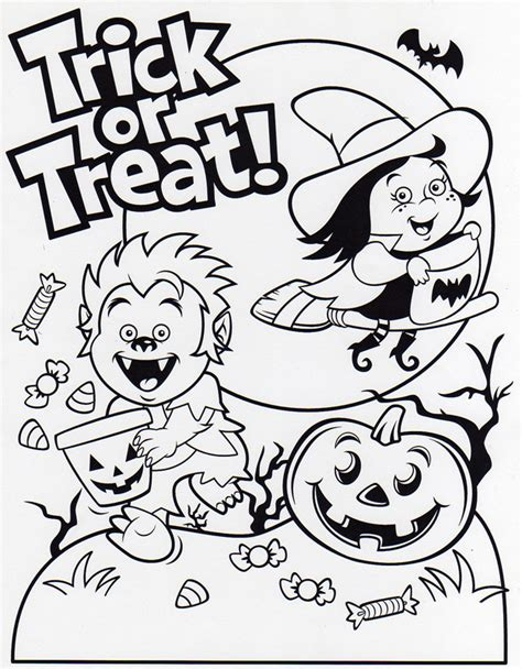 halloween birthday coloring page trick or treat bag party halloween coloring pages free
