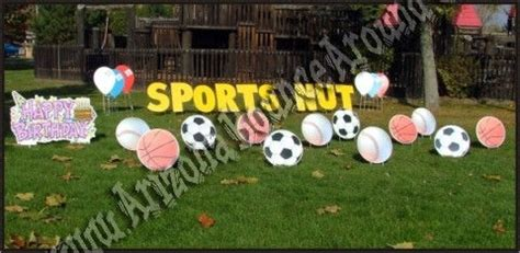 Sports Day Decoration by Yard Greeting Cards Birthday Sign Rental