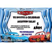 Tarjetas De Invitaci&243n Cumplea&241os Cars Tama&241o 10x15
