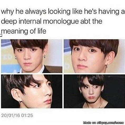 definition of borne off i think he just looks reaaaally angry xd jungkook jeon
