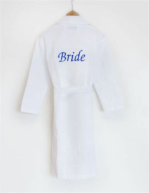 Wedding Dressing Gowns by Personalised White Waffle Dressing Gown