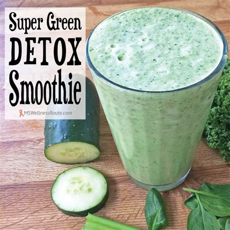 Ms Detox Smoothie by Green Detox Smoothie Ms Wellness Route