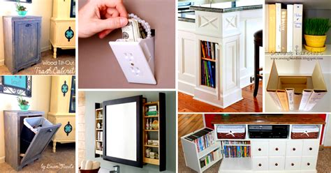 diy hidden storage 41 mind blowing hidden storage ideas making a clever use