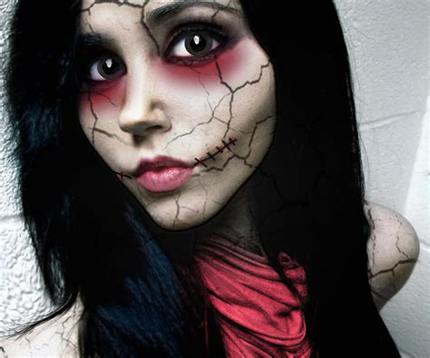 tutorial makeup halloween doll quot doll face quot halloween photo tutorial
