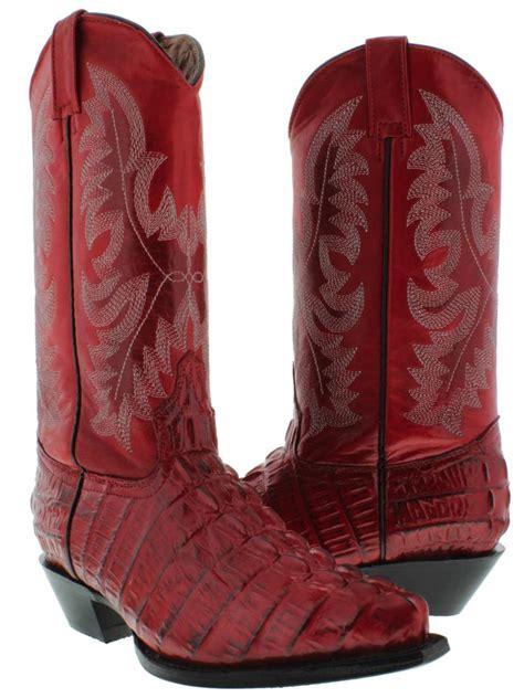 alligator boots for s crocodile alligator leather cowboy