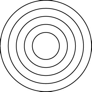 Series Sg034 Segment 034 Cut Concentric Circles Concentric Circles Template