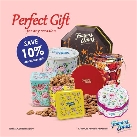 famous amos cookies gift 10 off food beverages