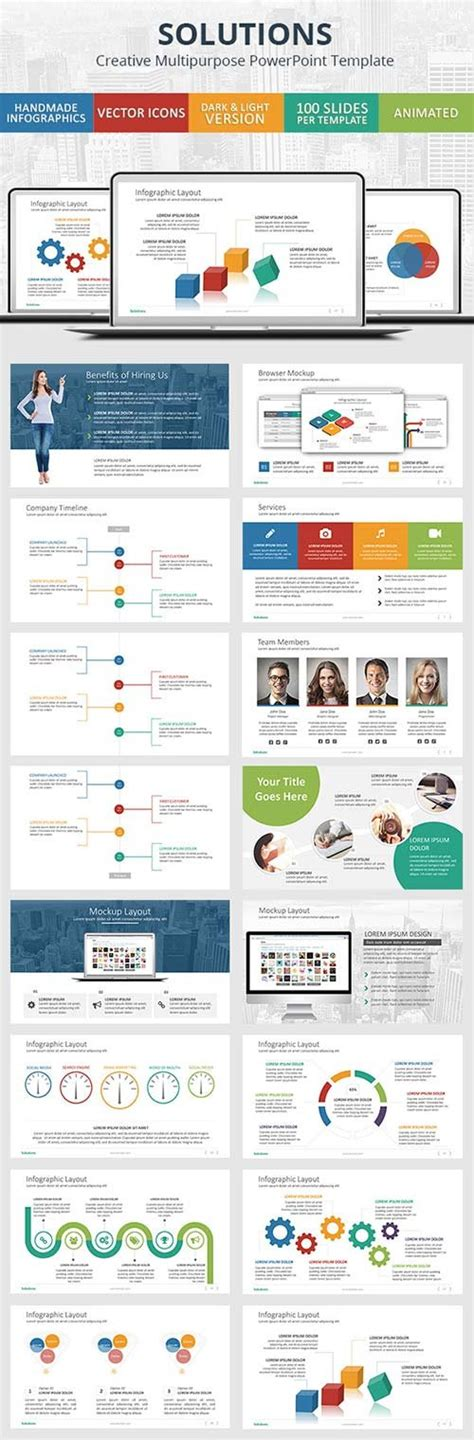 powerpoint templates graphicriver solutions powerpoint