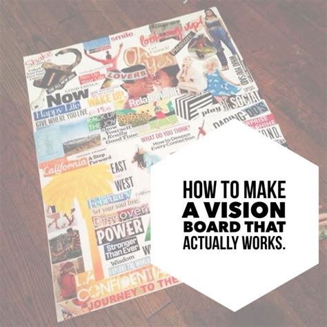 how to make lwork how to make a vision board that actually works sammyd tv