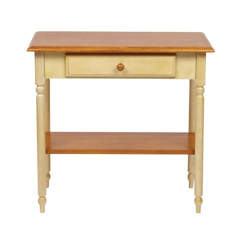 accent entry table wood country buttermilk cherry finish foyer hall entry