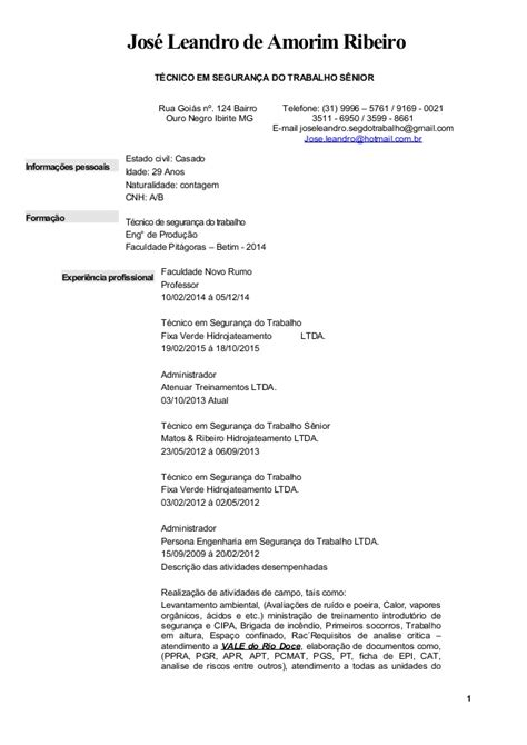 Modelo Curricular No Tecnico Curriculo T 233 Cnico Em Seguran 231 A