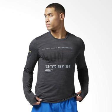 Pria Olahraga Ufc Black jual reebok one series run sleeve baju olahraga pria black bk7330 harga