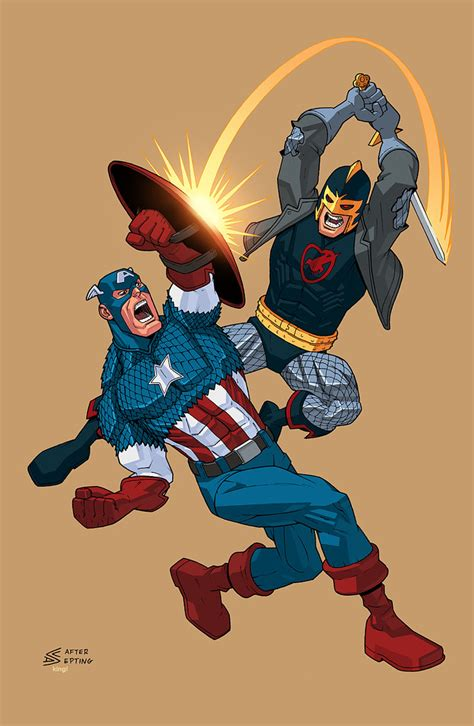 what is captain with captain america vs black by k bol on deviantart