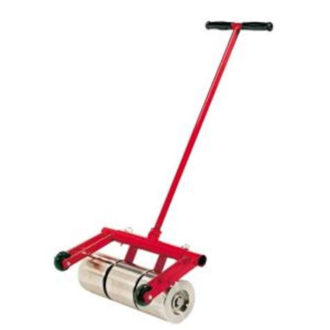 roberts 100 lb vinyl and linoleum floor roller with transport wheels 10 952 the home depot