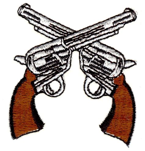 tattoo gun embroidery design pin crossed six shooter guns and brass knuckles tshirt on