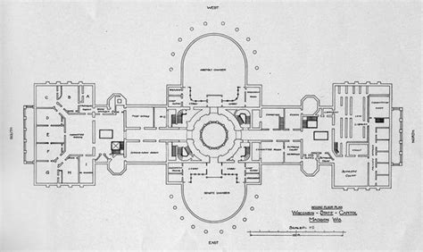 capitol building floor plan wisconsin state capitol third floor plan book or phlet wisconsin historical society