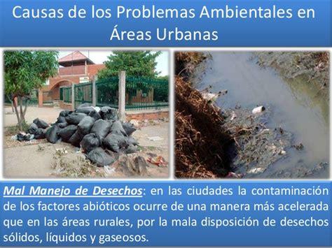 los problemas ambientales en las ciudades atajo avizora problemas ambientales en el 193 rea urbana