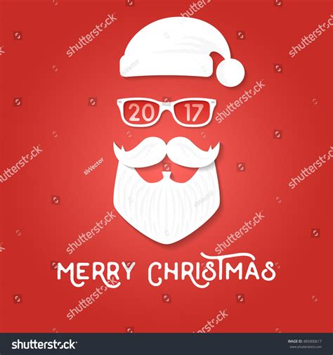 santa card template merry greeting card template santa stock vector