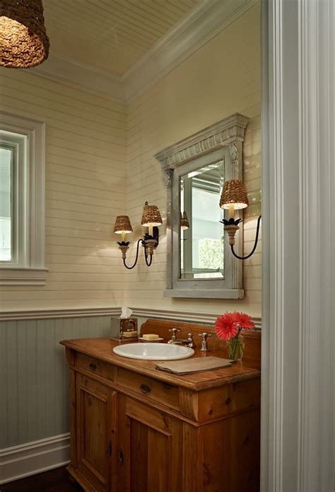 beadboard bathroom walls elegant coastal cottage home bunch interior design ideas