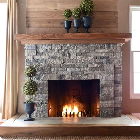 easy fireplace makeover airstone fireplace makeover make life lovely