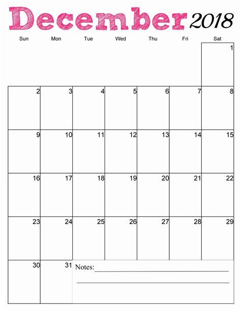 printable calendar for december 2018 free printable 2018 vertical monthly calendar calendar 2018