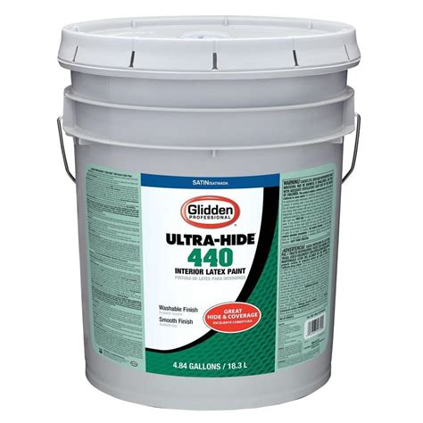 home depot 5 gallon interior paint glidden professional 5 gal white tint base satin interior paint gp4 4110 05 the home depot