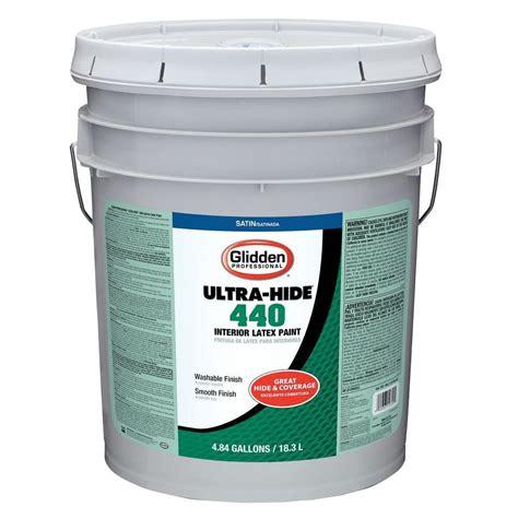 Home Depot 5 Gallon Interior Paint Glidden Professional 5 Gal White Tint Base Satin Interior
