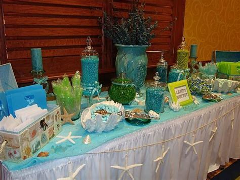 Beachy Blue And Green Candy Buffet Aqua And Lime Wedding Green And Blue Buffet