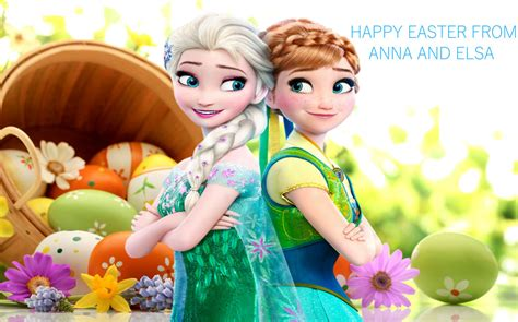 frozen easter wallpaper happy easter from anna and elsa by greykittens on deviantart