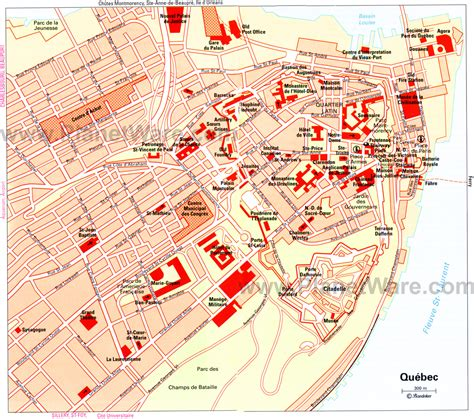 tourist map of canada map of city attractions planetware