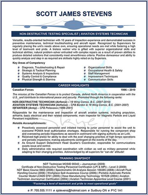 Aviation Management Resume