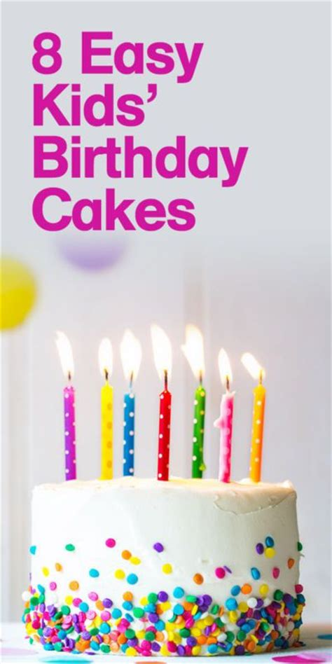easy birthday cakes ideas  pinterest easy kids birthday cakes desserts  cookie