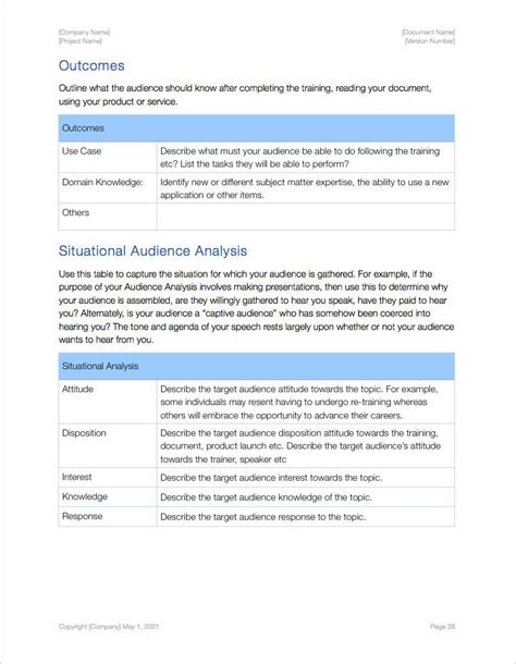 audience analysis apple iwork pages numbers