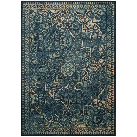 5 X 6 Area Rugs Safavieh Vintage Blue Yellow 5 Ft 3 In X 7 Ft 6 In Area Rug Vtg175 2333 5 The Home Depot