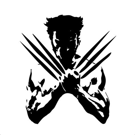 the wolverine sticker 210mmw xmen suit wall art car ute