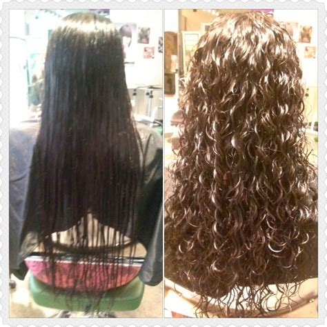 perms before and after before and after spiral perm and haircut done by kim