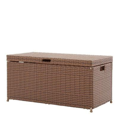 Jeco Honey Wicker Patio Furniture Storage Deck Box Ori003 Home Depot Wicker Patio Furniture