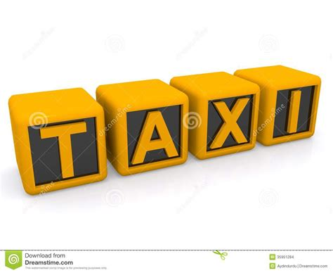4 Letter Words Yellow abstract taxi sign stock illustration image of letters