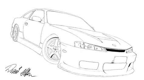 nissan silvia drawing nissan silvia s14 by nevano on deviantart