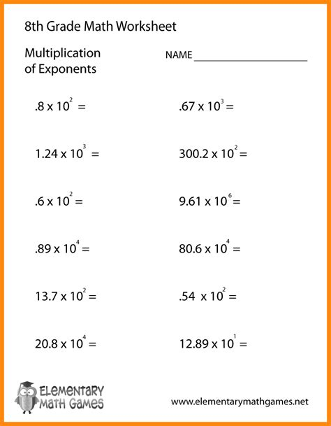 printable math worksheets with answer key 9 8th grade algebra worksheets math cover