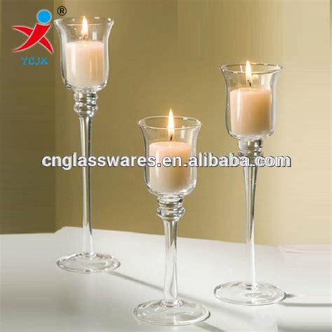 kerzenhalter lange kerzen hochzeitsdekoration langen stiel glas tulpe kerzenhalter