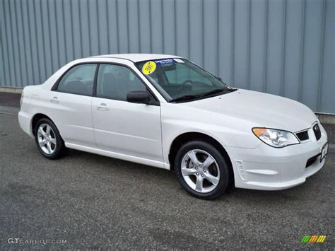 subaru sedan white 2007 satin white pearl subaru impreza 2 5i sedan 6833859