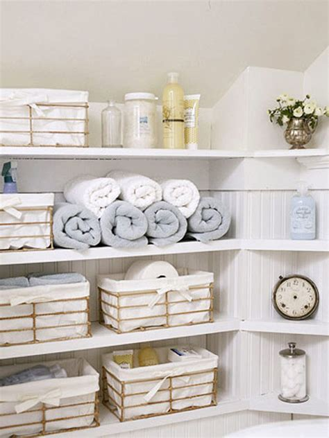 Bathroom Storage Shelves With Baskets Stylish Bathroom Storage A Dish Of Daily