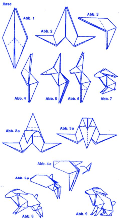 Origami Hase Faltanleitung by Hase