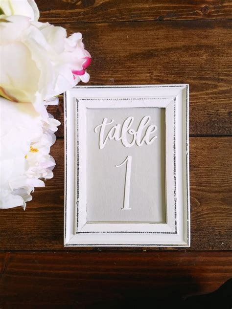 picture frames for wedding table numbers rustic white shabby chic table numbers picture frames