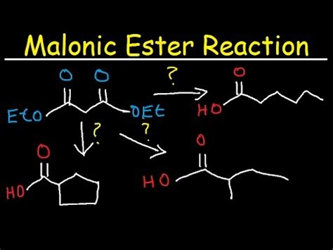 Organic Chemistry Retrosynthesis Practice Problems by Malonic Ester Retrosynthesis Reaction Mechanism Practice