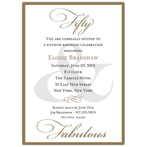 classic 50th birthday gold party invitations paperstyle