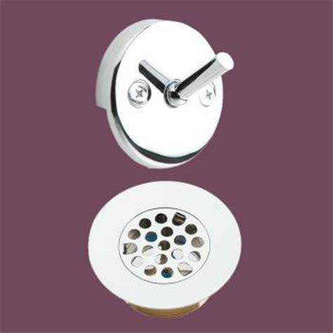 bathtub drain repair parts tub drain and trip lever overflow plate replacement parts