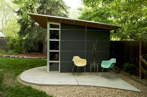 Modern Shed Design by Jetson Green Modern Green Affordable Studio Shed
